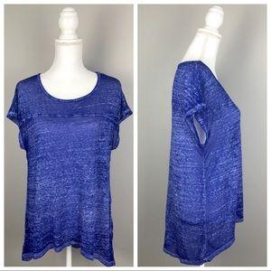 Threads 4 Thought Burnout Hi-Low T-shirt Top Blue
